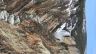 HD yellowstone waterfall vertical video