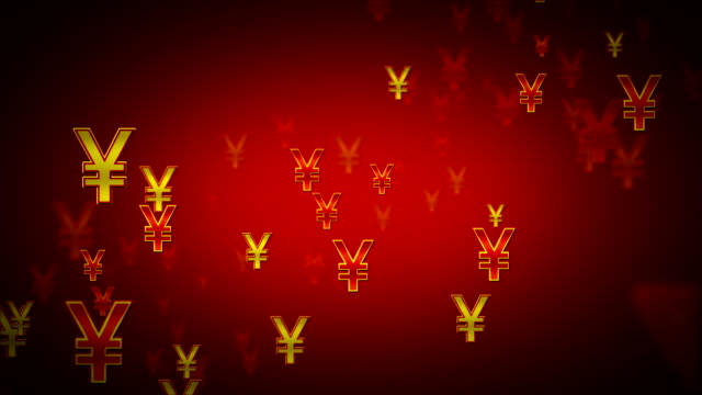 Yen Symbols Red And Gold Dolly video