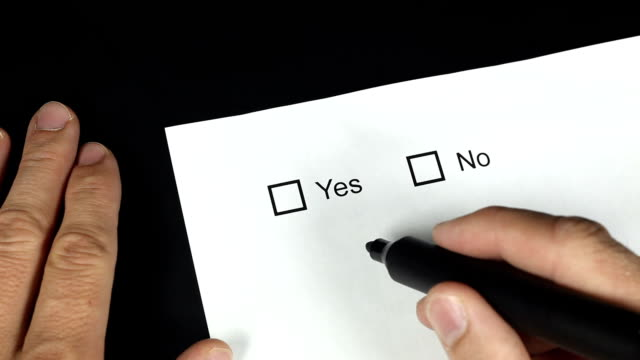 yes or No.  2 shots video