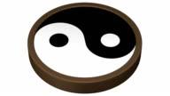 Yin Yang Symbol turn around. video