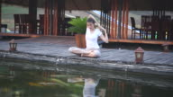 Yoga at the beach video