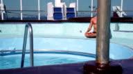 Yoga on ship near the swimming pool - lotus pose video