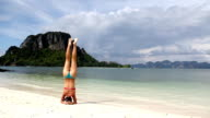 Yoga on the beach (HD) video