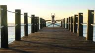 Yoga Pier Woman video