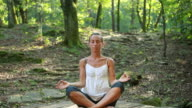 Yoga pose in nature video