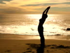 Yoga prayer pose - NTSC video