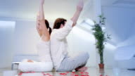 Yoga relaxation beautiful scene video