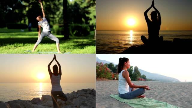 Yoga set, Woman Practicing Yoga video