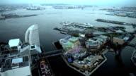 Yokohama Bay Skyline in Japan video