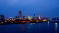 Yokohama minatomirai light up time laspe video