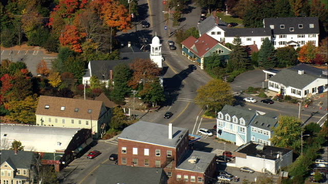 York Village - Aerial View - Maine,  York County,  United States video