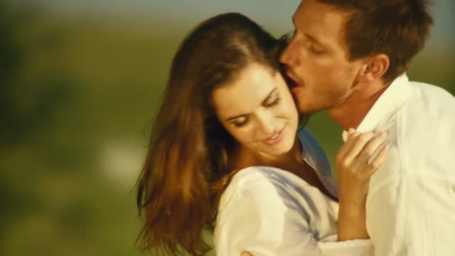 HD SLOW-MOTION: Young Affectionate Couple video