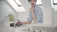 4K: Young Architect Working In Her Office. video