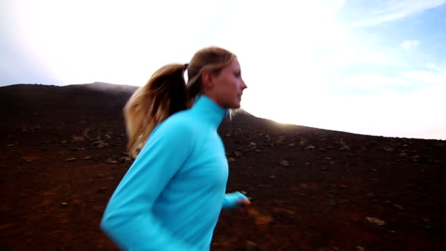 Young Attractive Female Running Outside In Morning video