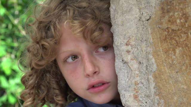 Young Boy Acting Fearful video
