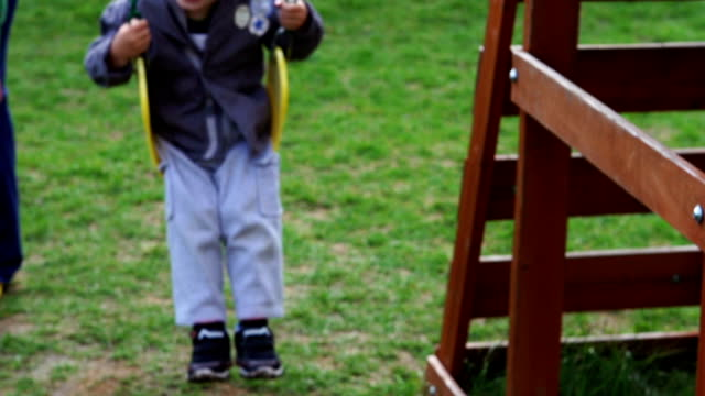 Young boy on a swing - 1080HD Super Slow Motion video