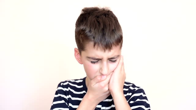 Young boy with toothache video