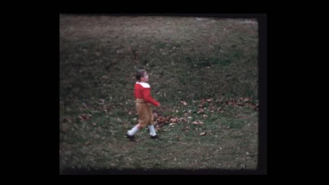 Young boys toss football video