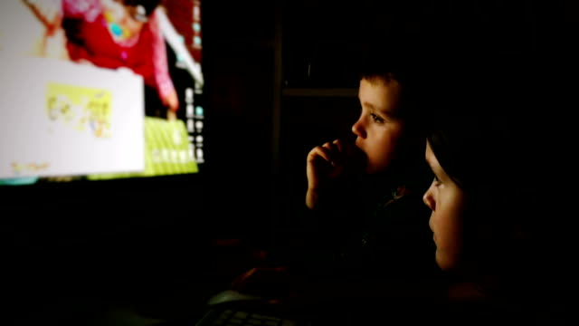 Young Brother and Sister Using A Computer At Home video