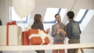 4K: Young Business People Have Party in Their office. video