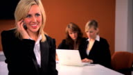 Young business people & teamwork video