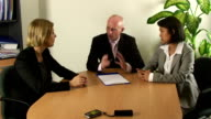 Young business team video