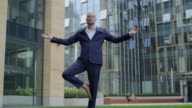 Young Businessman Meditating video