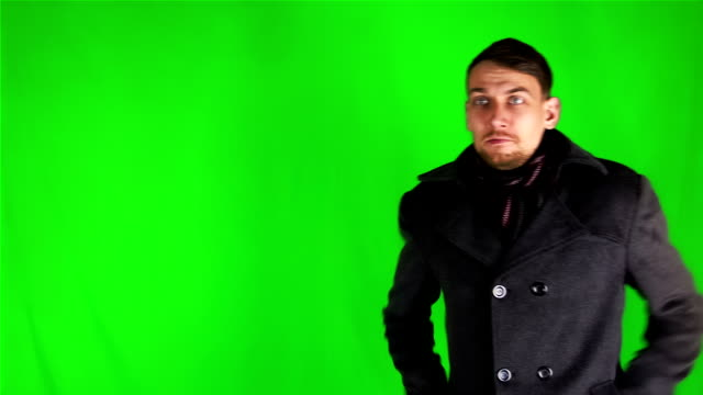 Young Businessman On Green Screen video