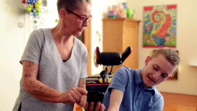 Young cerebral palsy patient video