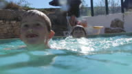 Young children enjoying the summer pool video