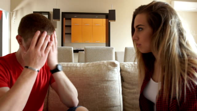Young couple arguing video