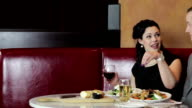 Young Couple At Restaurant video