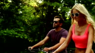 Young Couple Cycling video