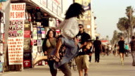 Young Couple Flirting Venice Beach Los Angeles. video