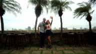 Young Couple Happy In Love Taking Selfie video
