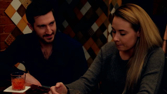 Young couple have a romantic date and toasting video