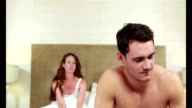 Young couple having an argument video