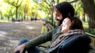 Young Couple in Love in Central Park, NYC video