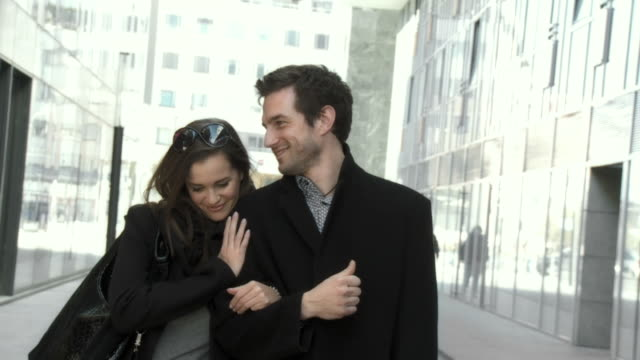 HD SLOW-MOTION: Young Couple In The City video