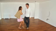 HD STEADYCAM: Young Couple Moving Into New Home video