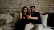 Young Couple Social Media video