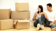 Young Couple with Moving Boxes video