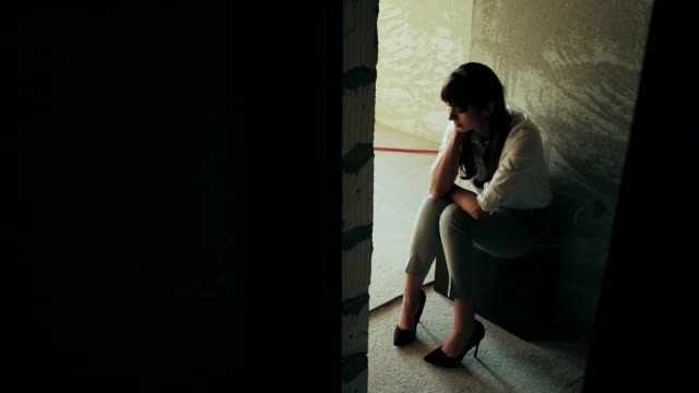 Young depressed woman video