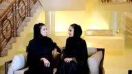 Young Emirati women in a SPA lobby video