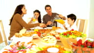 Young Family Enjoying  Healthy Lifestyle Food video