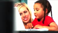 Young family life and technology video