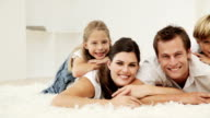 Young Family Lying Together video