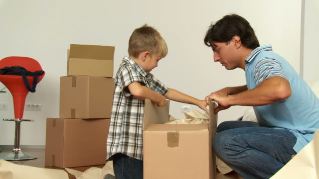 HD DOLLY: Young Family Moving Into New Home video