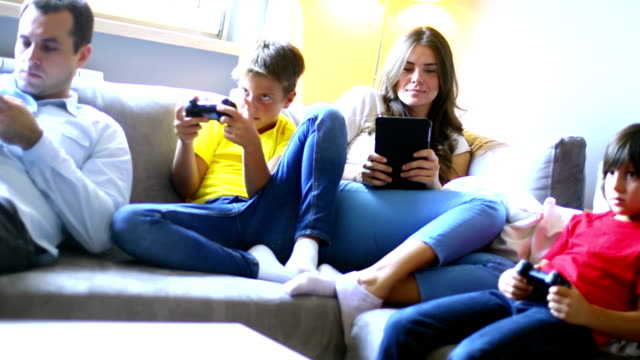 Young family sunday routine. video