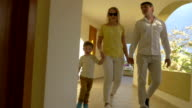 Young Family Walking over the Passage video